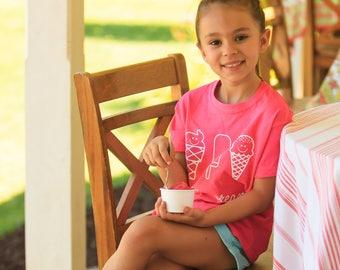 Ice cream shirt, kids shirt, i love ice cream, summer shirt, popsicle shirt, summer time shirt, beach shirt, ice cream theme, birthday gift