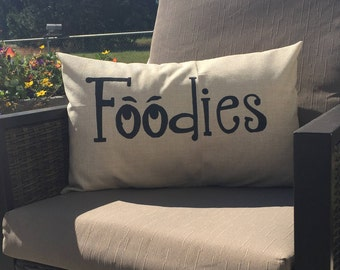 Hand lettered personalized pillow