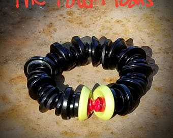 bah. humbug. #buttonbracelet #artjewelry