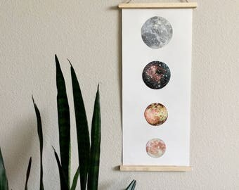 Moons of Jupiter FINE ART POSTER Print, Astronomy Poster, Ganymede, Callisto, Io, Europa, Moons, Space Art
