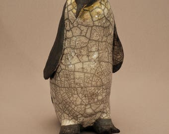 Sculpture raku Penguin