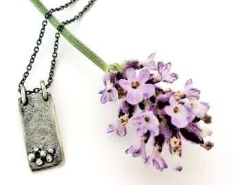 H A D E S  {pendant, darkened silver}