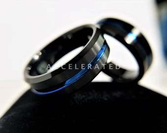 Men's Tungsten Ring, Men's Tungsten Wedding Band, Men's Black Wedding Band, Black Tungsten Ring, Tungsten Band, Personalized Ring