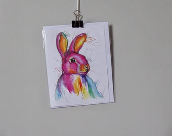 Rabbit Greetings Card