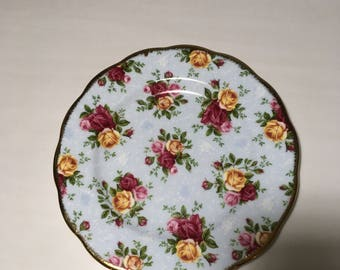 Royal Albert Blue Damask Plate
