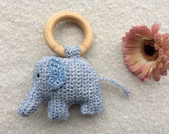 Crocheted Rattle, Griffin, elephant