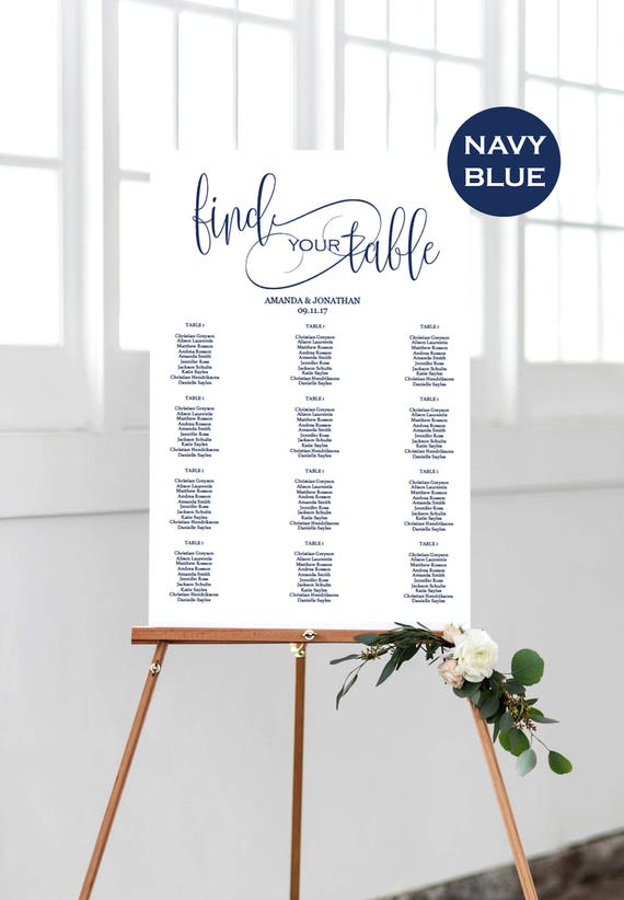 Table Seating Chart Printable