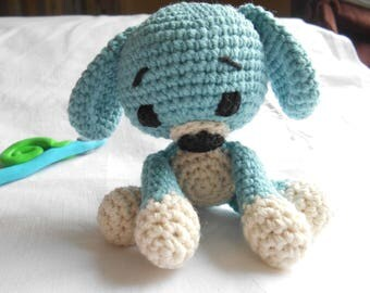 Puppy amigurumi soft toy/blanket
