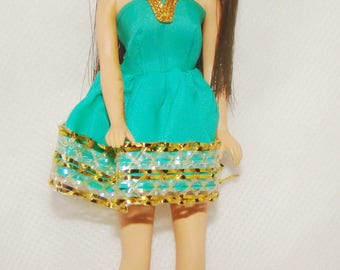 Topper Angie Doll Wearing Rare Green Twinkle Twirl