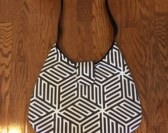 Small Black and White Purse