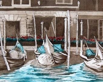 Sleeping Gondolas, Venice