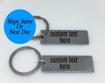 Boyfriend Gift, Custom Keychain Set, Engraved Keychain Set, Couple Keychain Set, Best Friend Gift, Keychain Set, Engraved Keychain