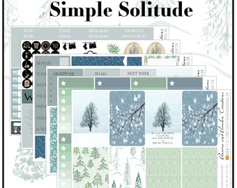 Simple Solitude Weekly kit for Happy Planner and Erin Condren...From The Avalon Winter Line