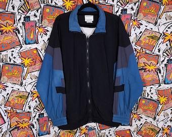 90s Colour Block Windbreaker, Size XL, Color Jacket, Street, OG, Jumper, Streetwear, Logo, Tracksuit Track Jacket, Sportswear, Vintage