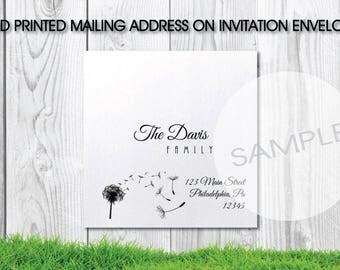 Printed Guest Addressing on Envelope
