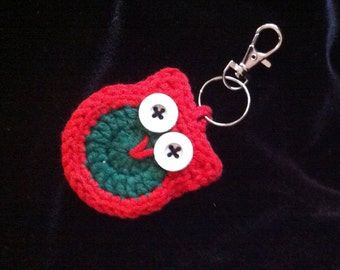 Crochet Owl Key Ring, ideal small present for an owl lover