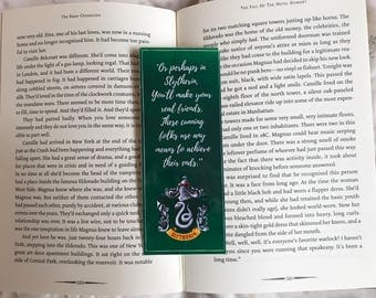 Harry Potter Slytherin Quote Bookmark