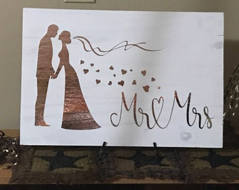 Mr. & Mrs Wedding sign-Wedding Signs-Wedding Decor-Mr and Mrs Signs-
