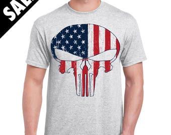 Punisher USA Flag Shirt