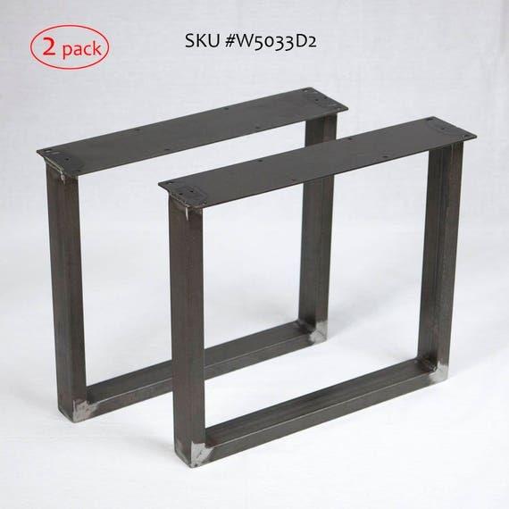 H 16 Inch W5033D2 Coffee Table U Shaped Metal Tube Legs