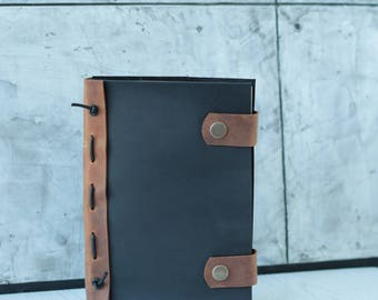 Leather  journal - Refillable notebook - Notebook cover - Personalized journal - Leather Notebook