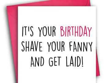 Birthday Shave | Funny Birthday Card | Rude cards