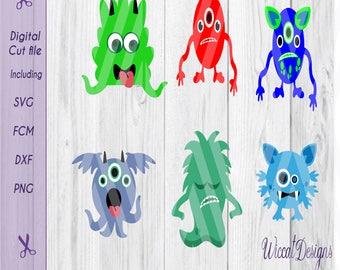 cute monsters svg, monsters svg, little monsters svg, die cut monsters, Funny monsters, cricut designs, t shirt svg, dxf file, Svg cut file