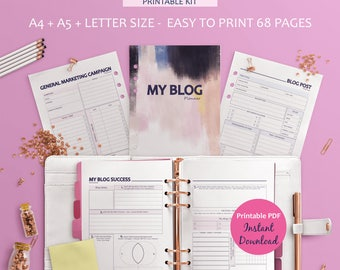 Printable Blogging Planner, Blog Planner, Blog Post Planning, Editorial Planner, Blog Post Planner, Blog Planner Pages, Social Media Planner