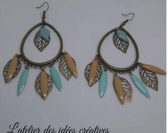 Earrings Bohemian pastel