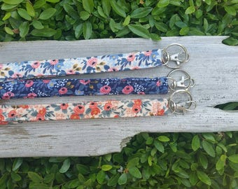 Quilted lanyard | key chain | Rifle Paper Company | floral | choose one