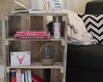 Bookcase, Wooden Bookshelf, Shoerack, Shelving, Display Unit, Wooden Bookcase, Living Room Storage, Home Storage, Side Table, Pallet Shelf