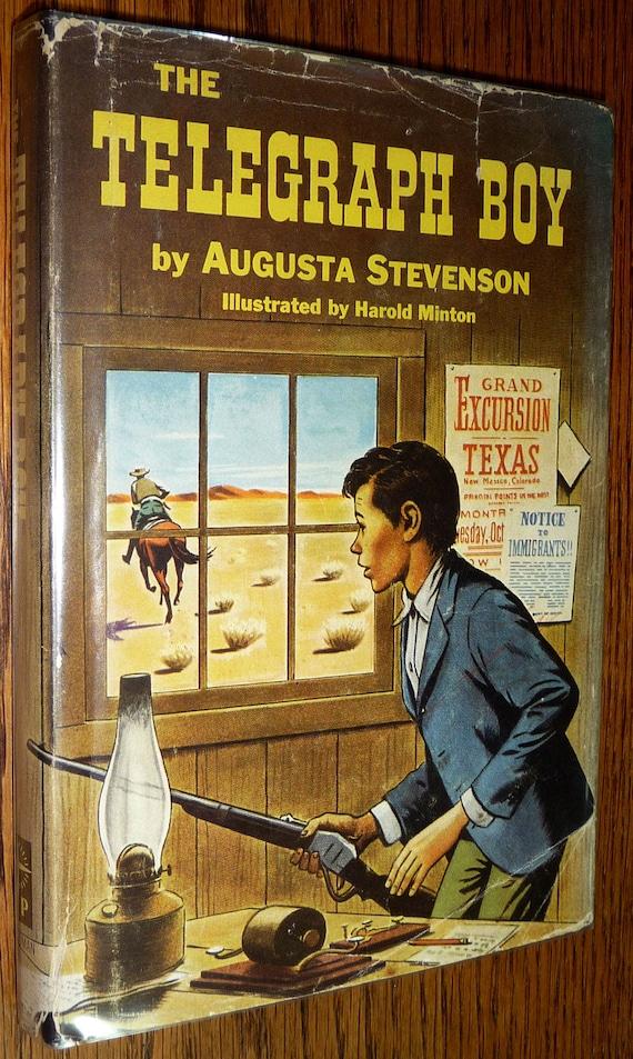 The Telegraph Boy 1956 by Augusta Stevenson - Hardcover HC w/ Dust Jacket DJ - Young Adult Children Fiction Novel