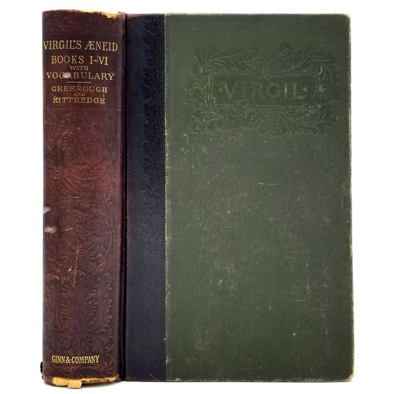 The Greater Poems of Virgil Vol. I Containing the First Six Books of the Aeneid 1895 Ginn & Company - Latin Language