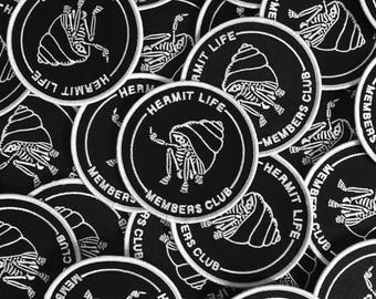 Hermit Life Member Club - Canvas Embroidered Patch