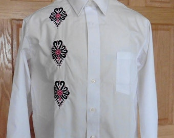 Parzenica-Polish Highlander- Embroidered Men's Shirt size 16 1/2 (34/35)