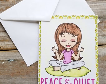 Card for Mom - Funny Mother's Day Card - Yoga Mom - Funny Card for Mom - Mother's Day Card - Funny Mom Card - Mother's Day Card Handmade