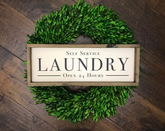 Self Service Laundry | Laundry Room Sign | Laundry Sign | Laundry Room Decor | Farmhouse Sign | Farmhouse Style | Farmhouse Decor | Laundry