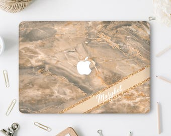 Marble Macbook case Monogram Macbook Air 13 Case Macbook Pro Hard Case Natural Stone Laptop Case Macbook 12 Inch Case Pro Retina 15 DV045