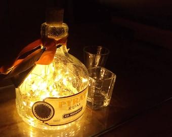 Pyrat Rum Bottle Light. Upcycled Bottle Lamp. Perfect Mood Lighting Gift For Women & Boyfriend Gift For Men. Cool Lights - Upcycled Lighting