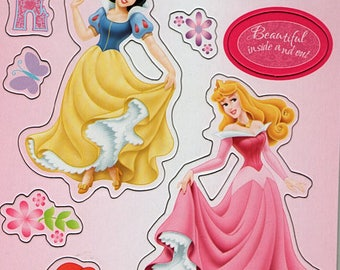 Disney Princesses  Chipboard 6x12 Sheet Scrapbooking Scrapbooks Ek Success Embellishments Cardmaking Crafts
