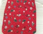 Un grand pochon de Noël avec des rennes adorables - Format XL Emballage - Sac à encours