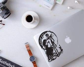 Nightmare Before Christmas decal, Jack Skellington and Sally decal for laptop, car, macbook, wall 188
