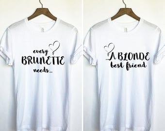 Bestie Duo Shirt, Bestie Duo Tee, Bff Tee Set, Matching Duo Shirts, Matching Bff Tshirt,  Duo Tees, Bff Shirt Set, Set Of Shirts Bff