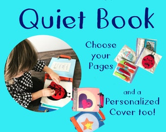 Build A Custom Christmas Quiet Book from TinyFeats - Choose your Cover & Pages - Fast Shipping- Best Christmas Present for Toddler Preschool