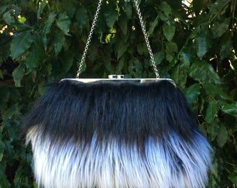 Faux fur clutch bag, Faux fur hand bag, Faux fur purse, Faux fur bag, Faux fur clutch, Faux fur handbag - Yeti/Angora
