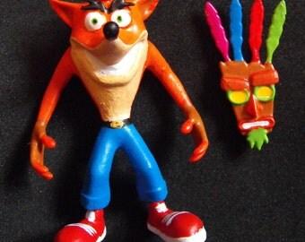3D Print Crash Bandicoot Needleminder plus Aku Aku back Magnet