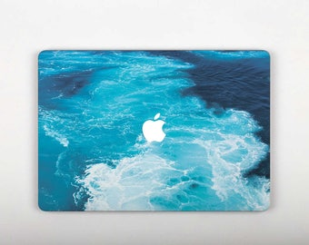 Ocean Wave Macbook Decal  Skin Macbook Laptop Sticker Blue 13 inch Pro Decal Cover Nature  Macbook 13 2016 Pro 13 Decal Computer Decal SG054