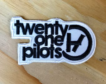 TWENTY ONE PILOTS Patch: 21 Pilots, Iron On, Handmade, Patches, Rare, Merch, Jacket, Rock, Cool, Boyfriend, Girlfriend, Gift Idea