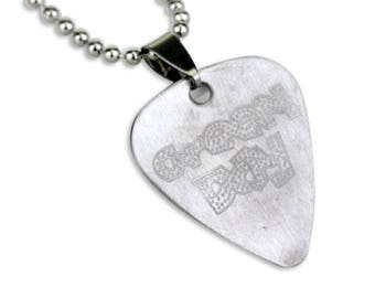 GREEN DAY NECKLACE: Guitar Pick Necklaces, Green Day, Green Day Guitar Pick, Merch, Vintage, Awesome Boyfriend or Gift Idea!, Sale