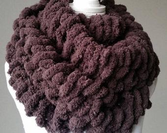 Snood femme XXL, écharpe circulaire - écharpe tricotée main - col écharpe tricoté main - écharpe pure laine, cache-cou en laine
